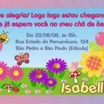 convite cha de bebe feminino 150x150 Convite de Chá de Bebê   Modelos