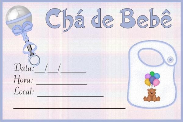 convites cha de bebe Convite de Chá de Bebê   Modelos